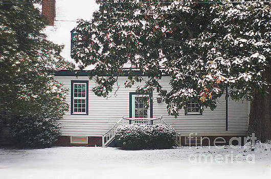 Snowy Hallsborough Tavern Original Building 1790 by Suzanne Powers