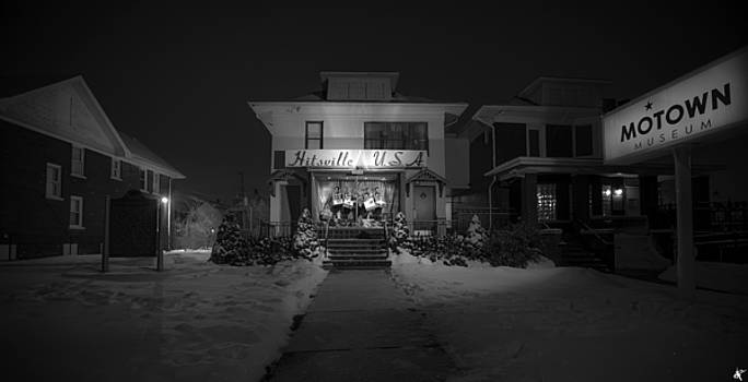 Snowy Hitsville USA Detroit MI by A And N Art