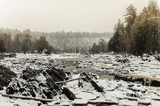 Snowy Morning at Jay Cooke by CJ Benson