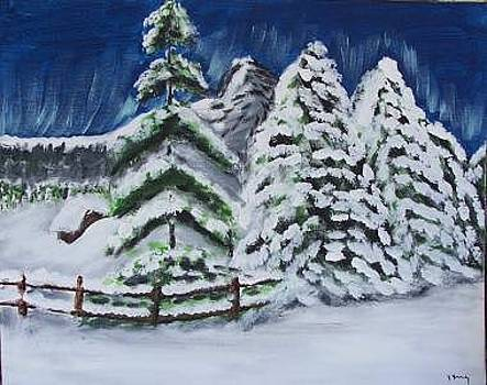 Snowy Morning by Kathy Young