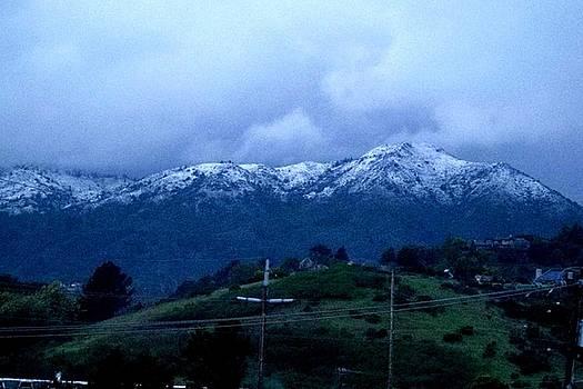 Snowy Mt.Tamalpais by Robert Stupack