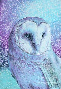 Snowy Owl in Four Colors by Kay Walker