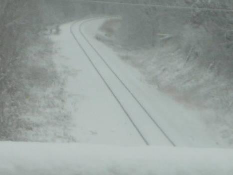 Snowy Railraod Track by Emma Sechrest