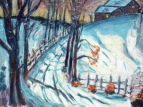 Snowy road by Carolyn Donnell