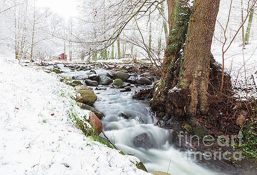 Snowy stream landscape by Sophie McAulay