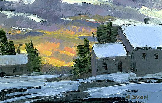 Mary Byrom - Snowy Sunset