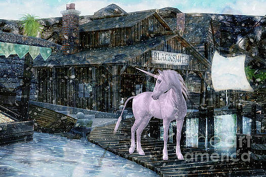 Snowy Unicorn by Digital Art Cafe