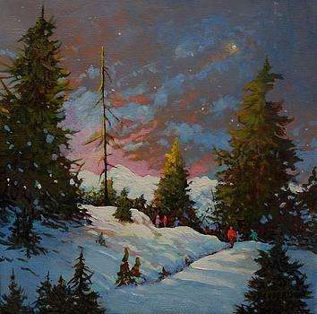 Snowy Walk by Catherine Robertson