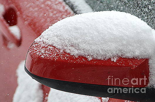 Snowy Wing Mirror by Andy Thompson