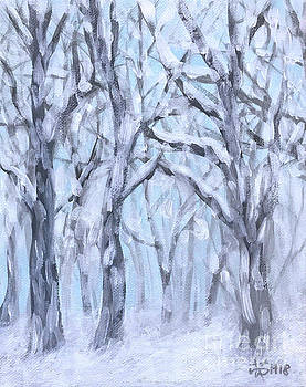Snowy woods  by Wonju Hulse
