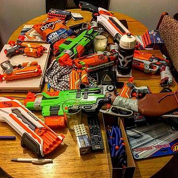So Tonight's Plan Of Action,nerf War!! by Chris Reid