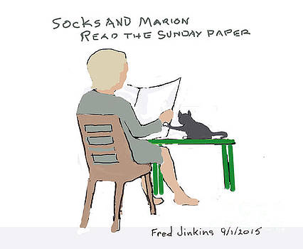 Sock and Marion Sketch by Fred Jinkins