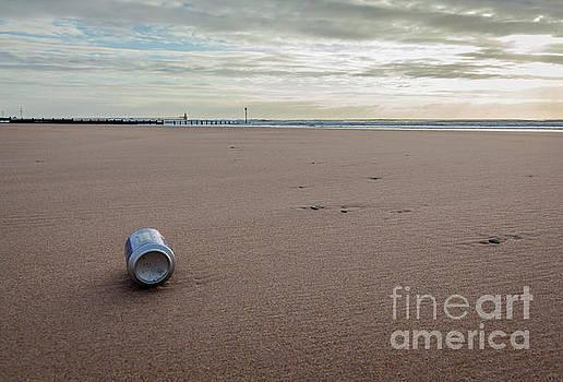 Soda Can on Blyth Beach. by John Cox
