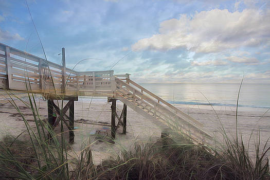 Soft Blues of a Beach Morning by Debra and Dave Vanderlaan