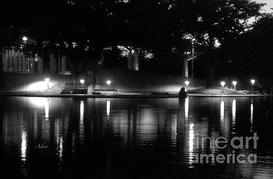 Felipe Adan Lerma - Soft Evening at Palmer Pond BW