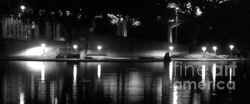 Felipe Adan Lerma - Soft Evening at Palmer Pond BW Panorama