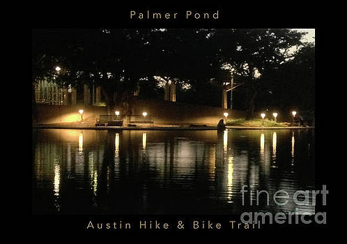 Felipe Adan Lerma - Soft Evening at Palmer Pond Poster Black Border with Text