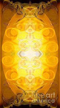 Omaste Witkowski - Solar Chakra Energy Abstract Organic Bliss Art by Omaste Witkows