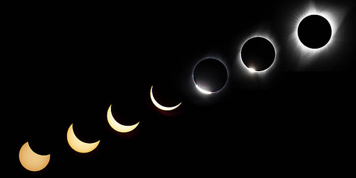 Solar Eclipse Sequence by Peter Irwindale