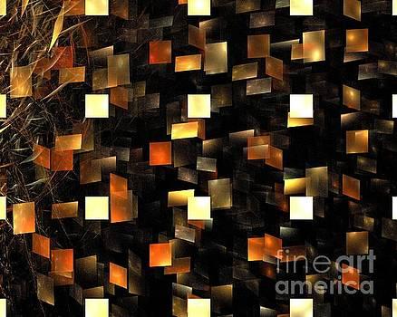 Solar Sienna Cubes by Kim Sy Ok