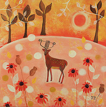 Solitary Deer by Teodora Totorean