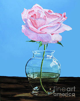 Solitary Rose by Diane Marcotte