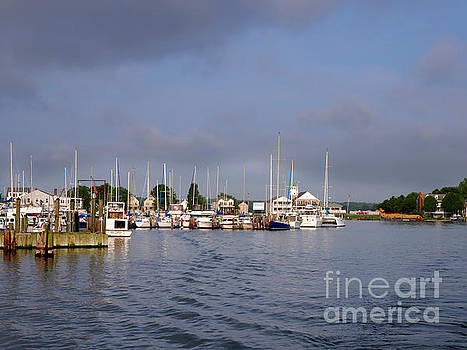 Solomons Island off Chesapeake Bay Maryland by Louise Heusinkveld