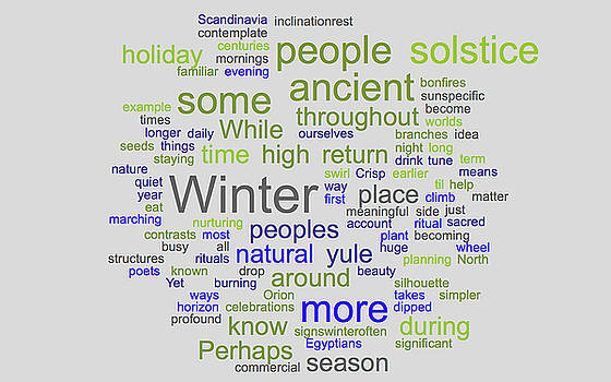 Solstice Greeting Nondenominational by Gene Norris