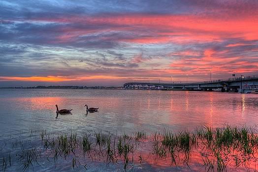 Somers Point sky by John Loreaux
