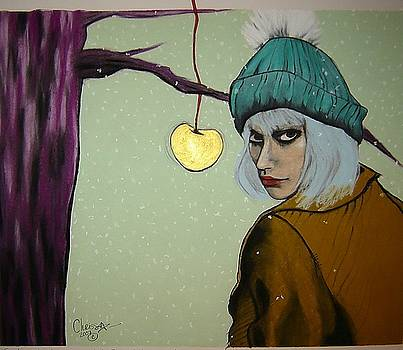 Sometimes a Girl Just Wants a Little Bite of the Golden Apple by Chrissa Arazny- Nordquist