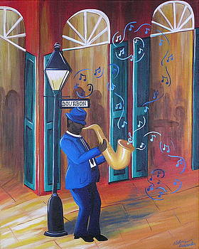 Somewhere on Bourbon Street by Valerie Carpenter