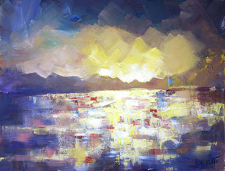 Somewhere to be, abstract landscape by Zlatko Music