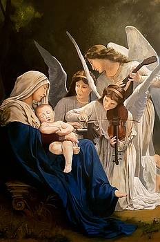 Song of Angels Bouguereau reproduction by Alexandros Tsourakis
