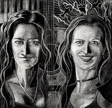 Songbirds - Alicia and Maryse by Miko At The Love Art Shop