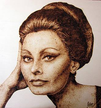 Sophia Loren by Andrea Cuvato