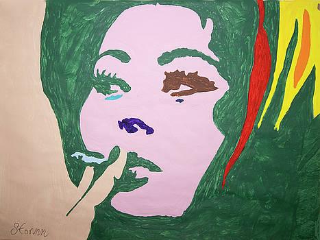 Sophia Loren Smoking by Stormm Bradshaw