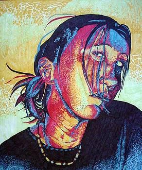 Sophmore Self portrait by Beka Burns