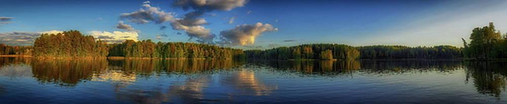 Sotkanvirta evening panorama by Jouko Lehto
