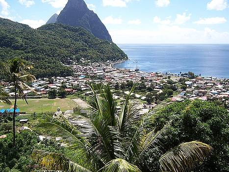 Soufriere and the Pitons by David Button