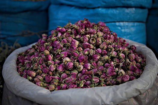 Dried roses at the Souq in Marrakech by Martin Wackenhut