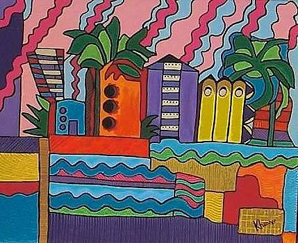 South Beach 2001 by Kathleen  Henner
