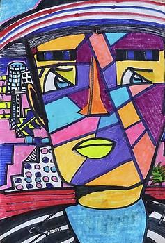 South Beach Miami Deco Man  by Don Koester