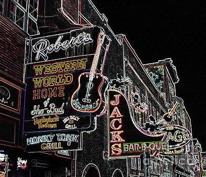 South Broadway Nashville Styilized by Tom Wurl
