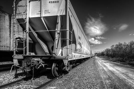 South End Of A North Bound Train by Mark McDaniel