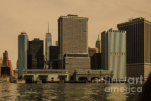 South Ferry and Lower Manhattan 20117 by Thomas Marchessault