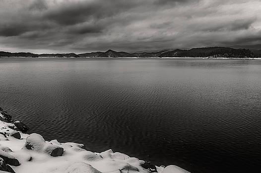 South Holston Snow BandW by Jonathan Grim