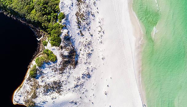 South Walton Barrier Dune Aerial by Kurt Lischka