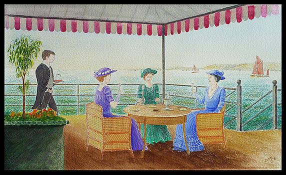 Southend Pier 1905 by David Godbolt