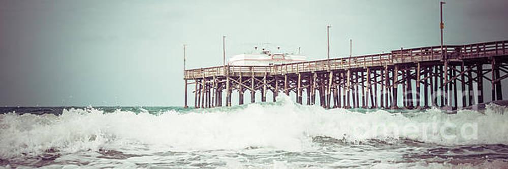 Paul Velgos - Southern California Pier Retro Panorama Photo