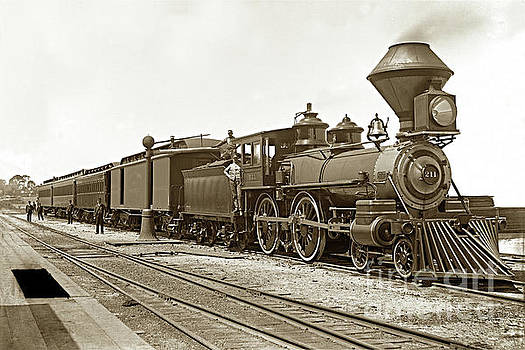 California Views Mr Pat Hathaway Archives - Southern Pacific 4-4-0 No. 211 built by Schenectady Locomotive Works 1888